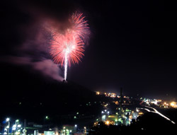 Fireworks from Mount Rob