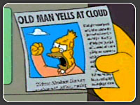 Abe Simpson yells at cloud
