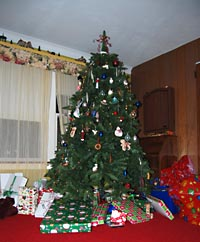The tree o' gifts....