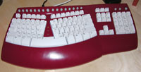 my new keyboard - in red